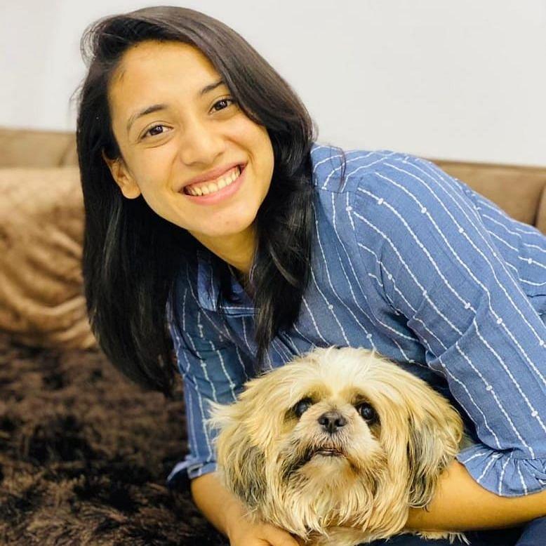 Puppy love with Smriti Mandhana