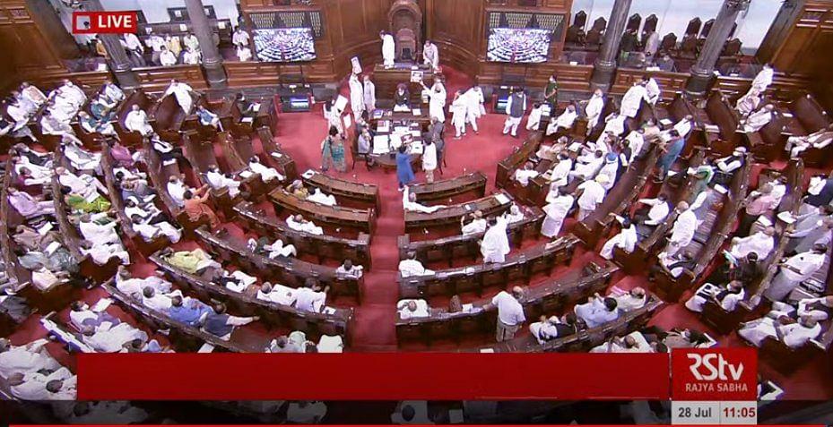 Parliament Monsoon Session: Rajya Sabha, Lok Sabha adjourned till 2 pm amid uproar by Opposition MPs