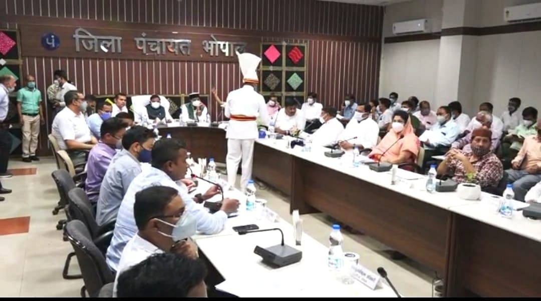 The district planning committee meeting was chaired by district in-charge minister Bhupendra Singh