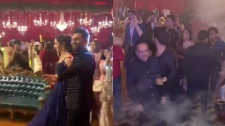 'COVID-19 restrictions only for aam aadmi': Netizens react to Rahul Vaidya, Disha Parmar's Sangeet ceremony videos