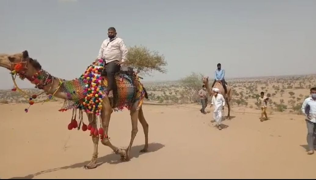 Education just a camel ride away in Rajasthan: Teachers use them to reach out to students in remote desert areas