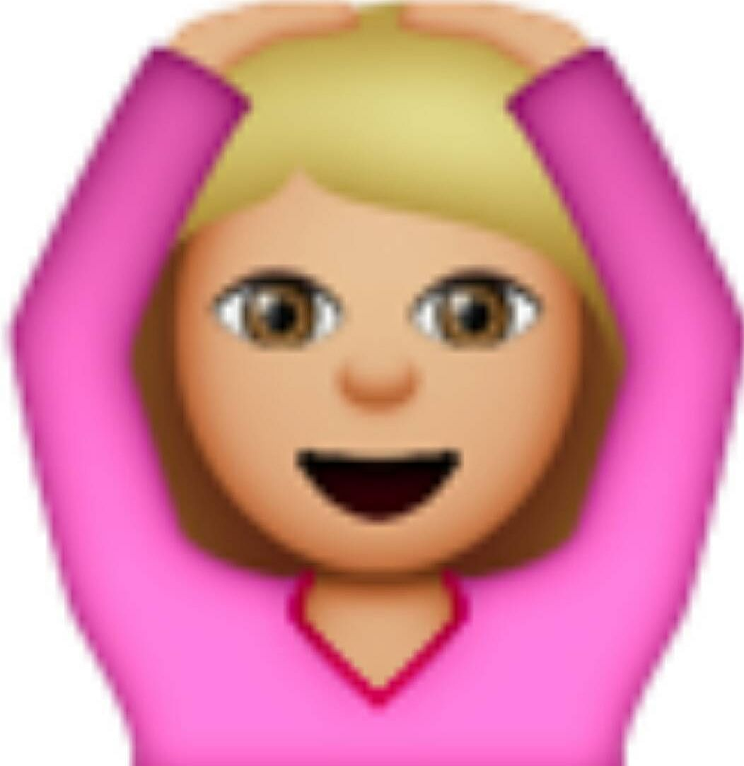 Hands on the Head Emoji