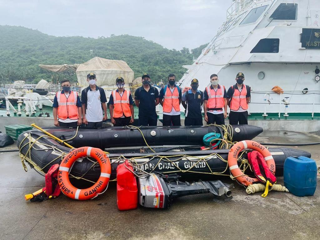 ICG disaster relief teams rescue people from inundated areas of Maharashtra, Goa & Karanataka
