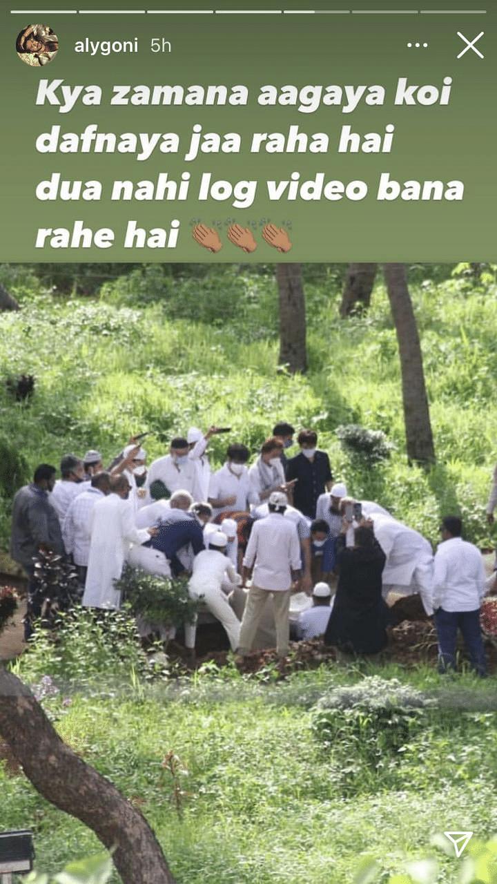 'Kya zamana aagaya hai': Aly Goni slams those who recorded Dilip Kumar's burial video at Juhu Cemetary