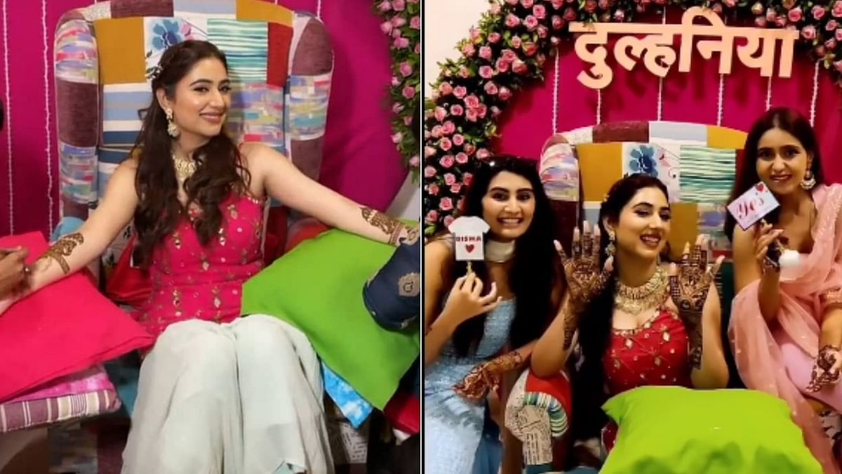 Rahul Vaidya-Disha Parmar's Mehendi Ceremony: Actress looks stunning in pink outfit; see pics and videos