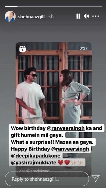 'Mazaa aa gaya': Shehnaaz Gill reacts to Ranveer Singh-Deepika Padukone dancing to 'Twada Kutta Tommy' remix