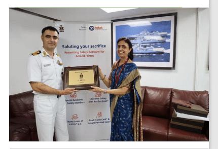 Kotak Mahindra Bank signs MoU with  Indian Navy for Salary Account