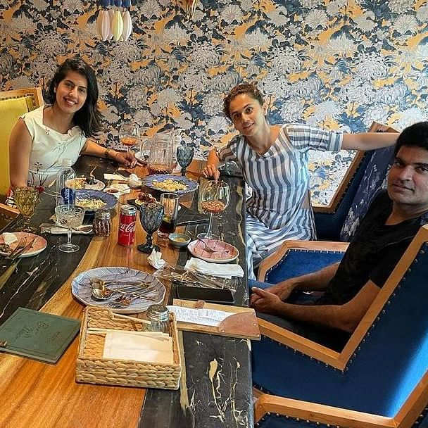 Taapsee Pannu and her boyfriend Mathias Boe step out for lunch on his birthday; pic goes viral