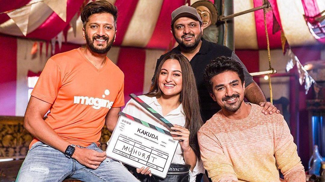 Sonakshi Sinha, Riteish Deshmukh and Saqib Saleem's horror-comedy 'Kakuda' goes on floors