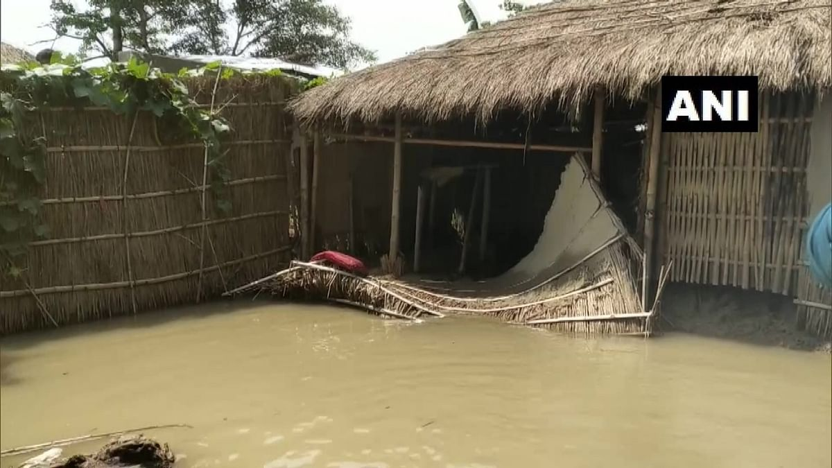 Several villages have been affected due to flood following rise in water levels of two rivers in Bagaha area of East Champaran, Bihar.