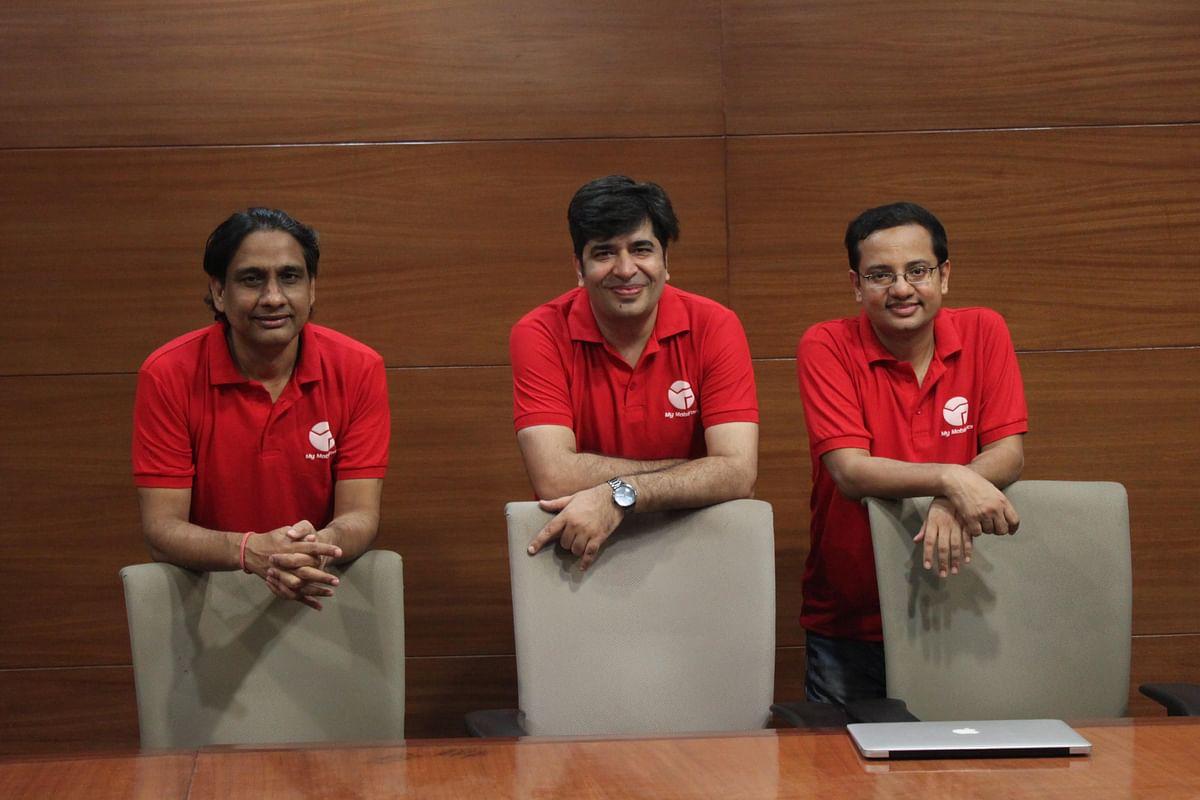 Founders of MyMobiForce (l-r) Himanshu Kumar, Dheeraj Khatter, and Kshitiz Saini