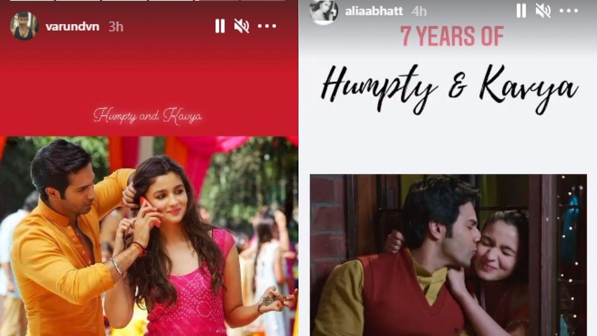 Alia Bhatt and Varun Dhawan get nostalgic as 'Humpty Sharma Ki Dulhania' clocks 7 years