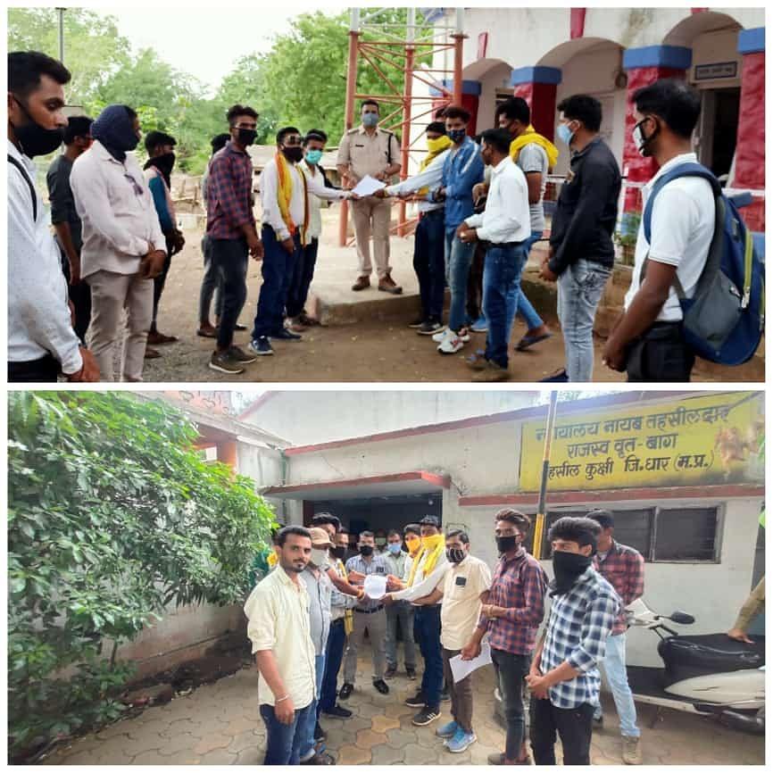 Members of JAYAS (Jai Adivasi Yuva Shakti Sangathan) submitted a memorandum to police station incharge Rohit Kachhawa and nayab tehsildar on Thursday demanding action against people behind rape and murder of four tribal women