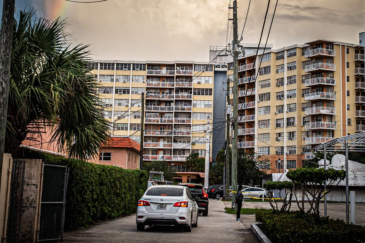 A general view of the Crestview Towers Condominium in North Miami Beach, Florida.