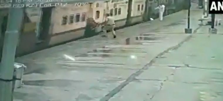 Watch: RPF constable rescues woman who slipped while alighting from moving train at Secunderabad station
