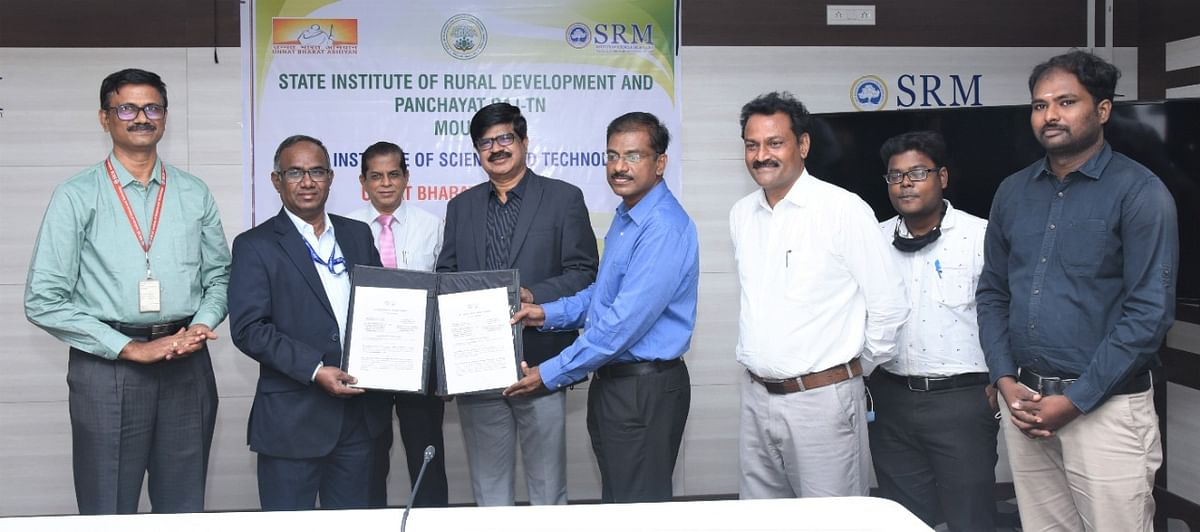 SRM signs MoU with SIRD for rural development