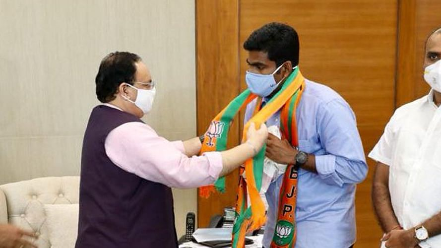 BJP appoints ex-IPS officer K Annamalai as president of party's Tamil Nadu unit