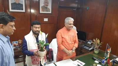 Bhupender Yadav assumed charge as labour minister in New Delhi on Thursday