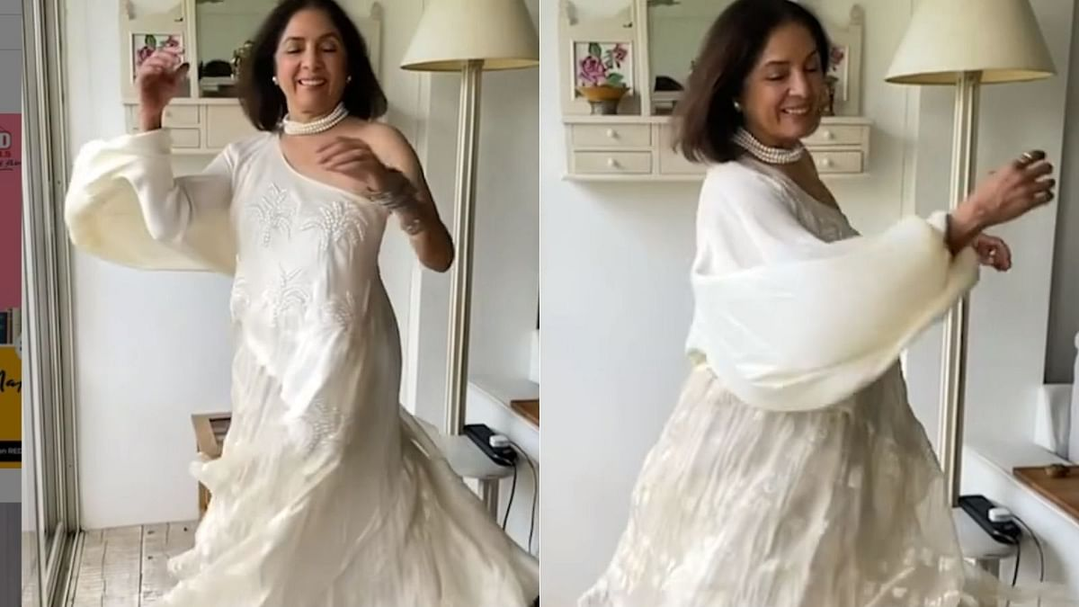 Watch: Neena Gupta twirls in white one-shoulder dress, says she wore 'acche kapde' after many days