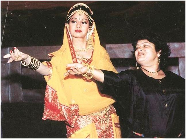 Saroj Khan and Sri Devi