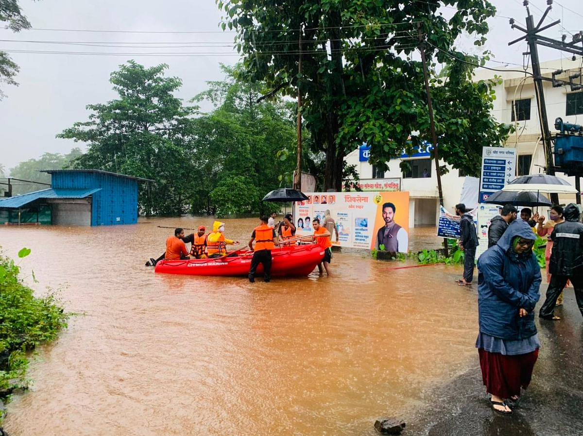 Photos: Flood situation critical in Ratnagiri due to heavy rains; rescue operations underway