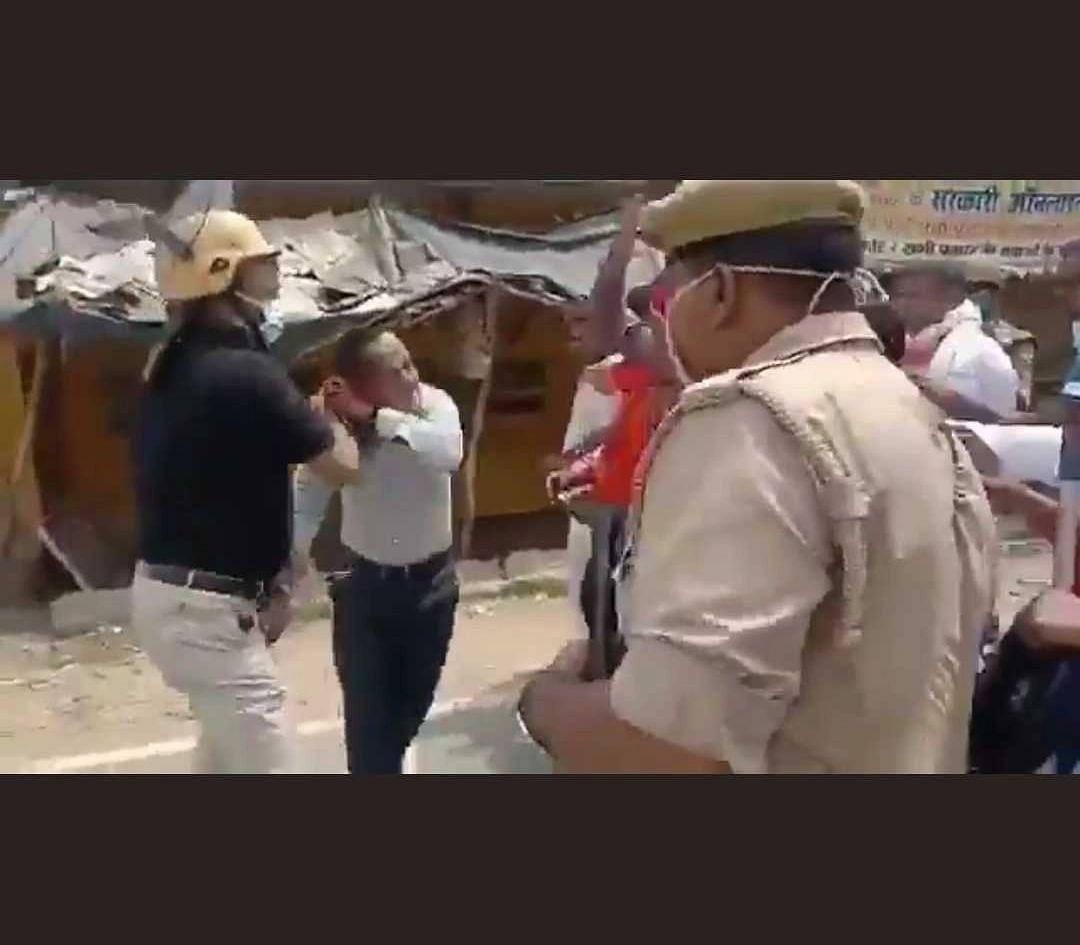 Watch Video: Chief development officer brutally trashes journalist in Uttar Pradesh during block polls