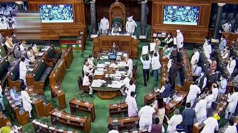 Parliament monsoon session: 10 MPs likely to be suspended for throwing pieces of paper and showing disrespectful behaviour - who are they?