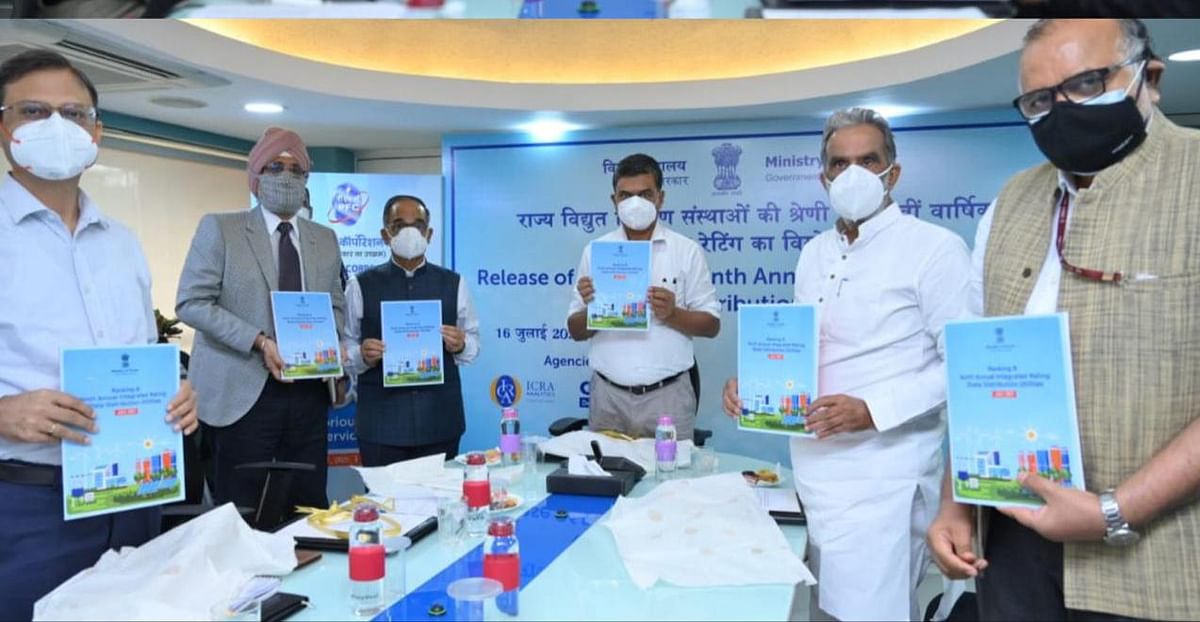 Power Minister releases 'Ranking & Ninth Integrated Ratings for State-owned Power Distribution Utilities'