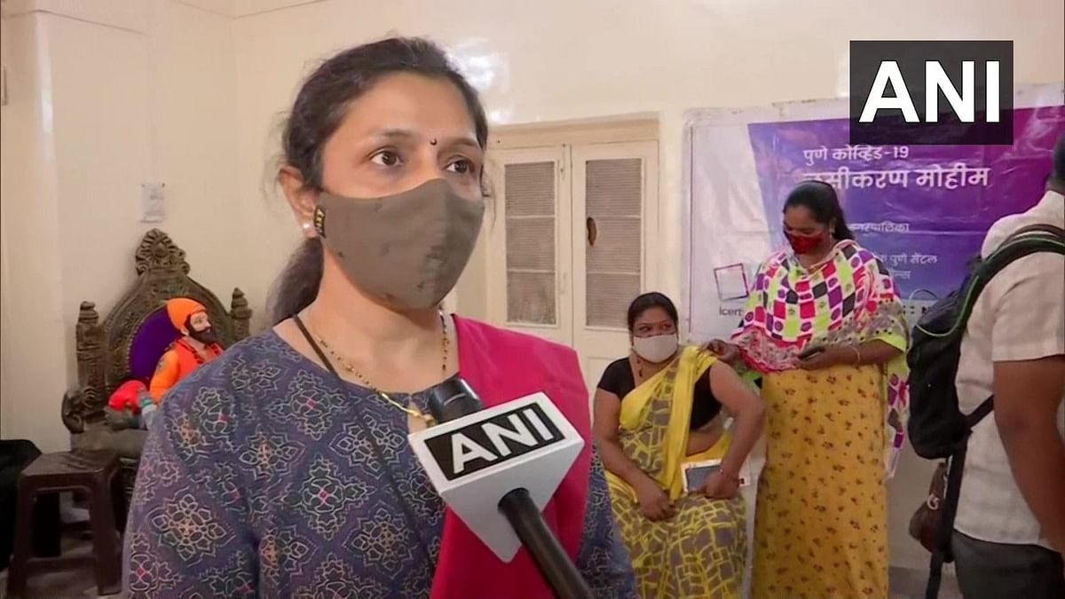 """""""We requested civic body to organise a camp for them as they were facing difficulty to get inoculation done. Around 5000 women are working here,"""" said social worker, while talking to ANI."""