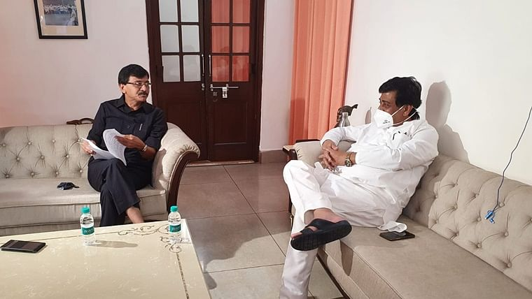 Ashok Chavan meets Sanjay Raut, other leaders in Delhi over Maratha reservation issue