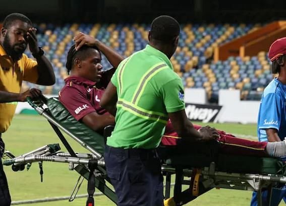 West Indies women cricketers collapse on field