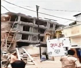 Ex-MP's bldg razed in UP, rubble falls on driver