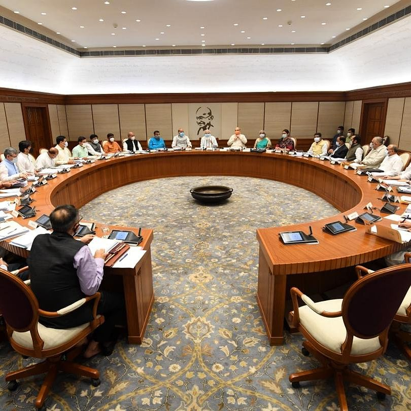 PM Modi chairs in-person Union Cabinet meet after more than a year