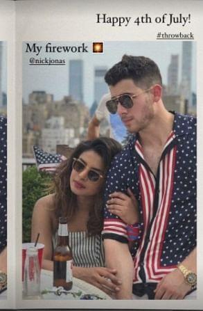 Priyanka Chopra shares pic with her 'firework' Nick Jonas to mark Fourth of July