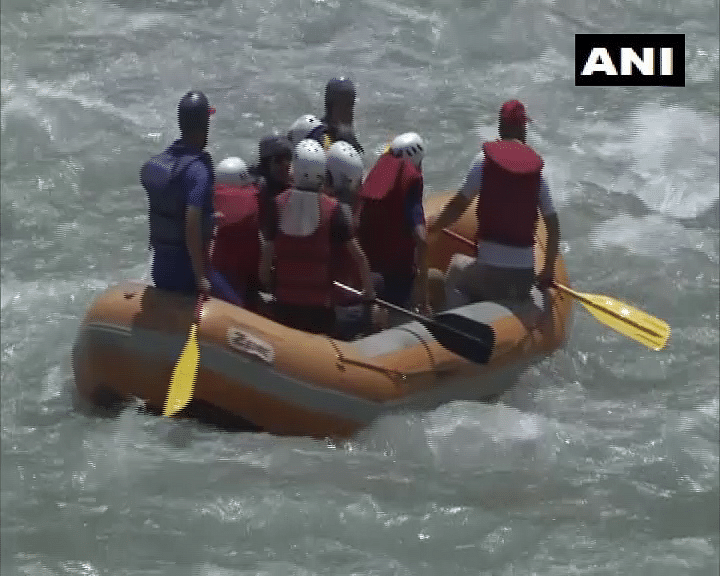 Jammu and Kashmir government started rafting activities in Ganderbal to boost adventure sports and tourism after COVID-19 cases have declined in the state.