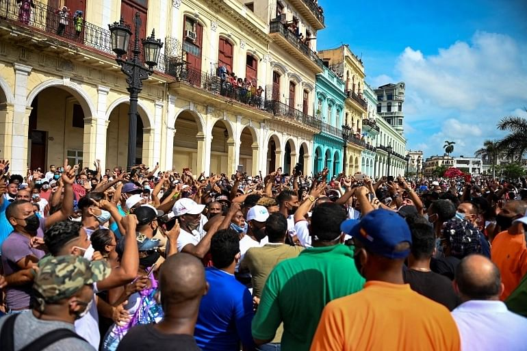 Protests in Cuba over lack of freedom, economy