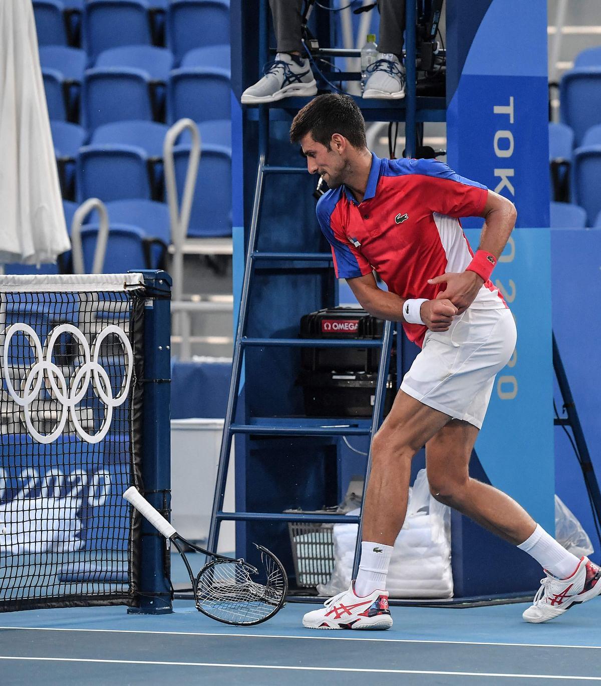 Tokyo Olympics: Djokovic's temper flares, leaves Tokyo empty-handed