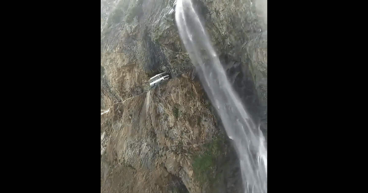 Through waterfall, along narrow mountain road: Video of bus undertaking journey from Chamba to Killar in Himachal wows netizens