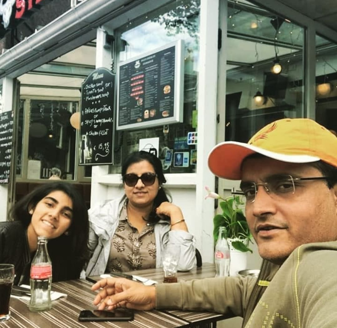 Family fun time with Sourav Ganguly