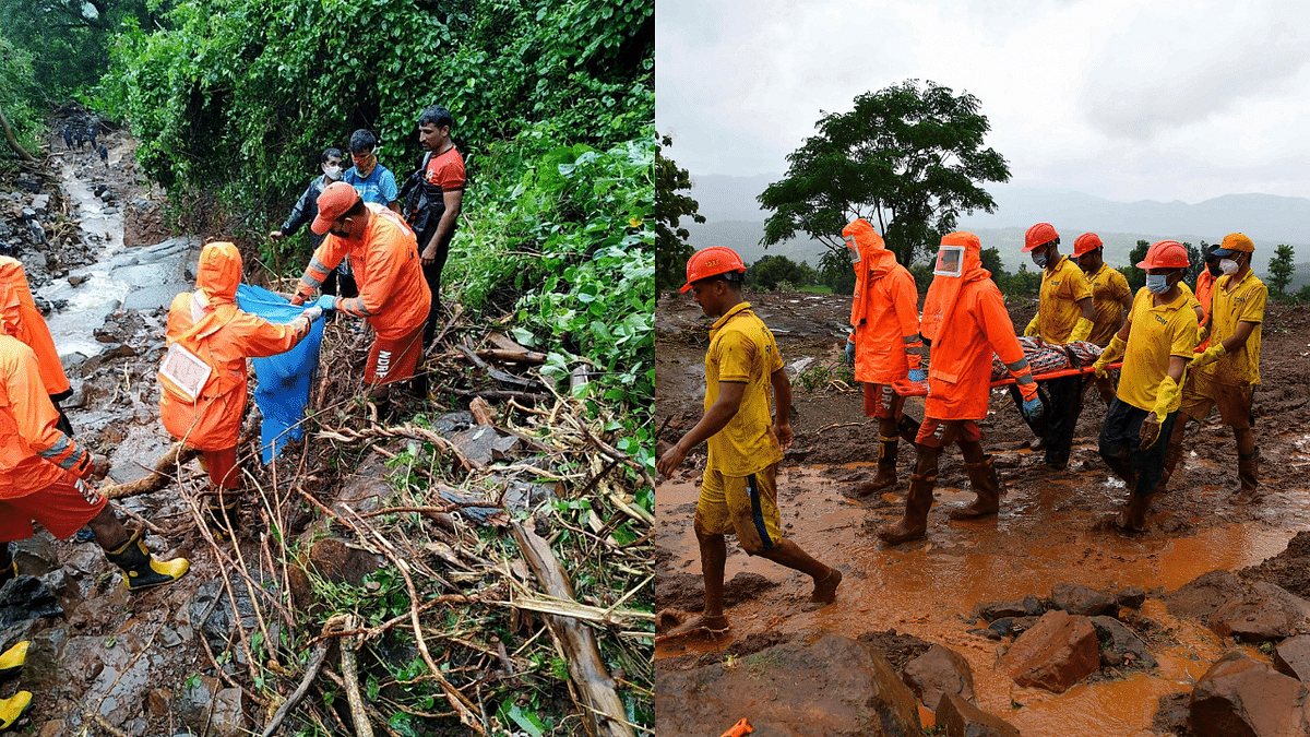 In Photos: More than 100 dead in Maharashtra landslides; 34 rescue teams deployed