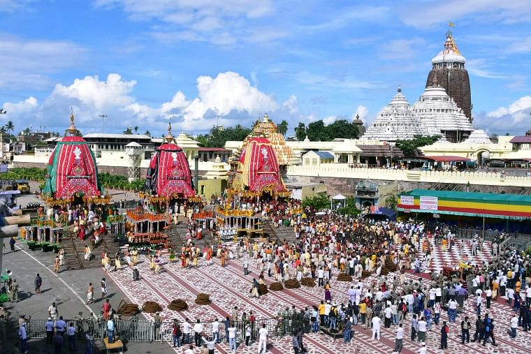 Puri Rath Yatra 2021: Celebrations held at Jagannath temple amid COVID-19 curfew, no devotees for second year in a row; see pics