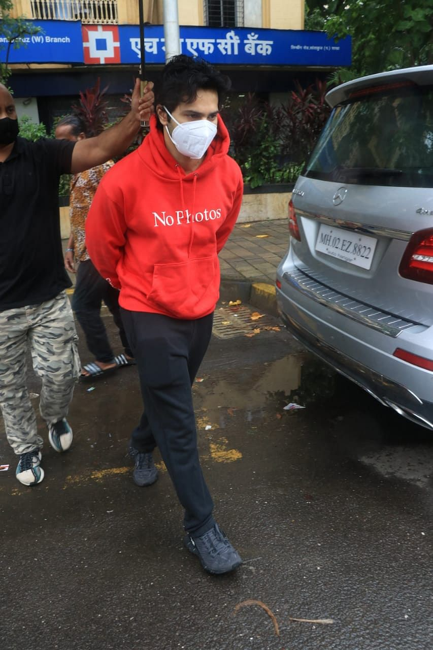 In Pics: Varun Dhawan steps out with mom Lali; Alia Bhatt spotted at dubbing studio in Mumbai