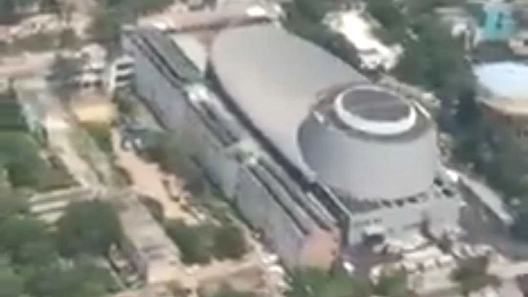 Watch Video: BJP shares aerial view of 'Rudraksh' convention centre inaugurated by PM Modi