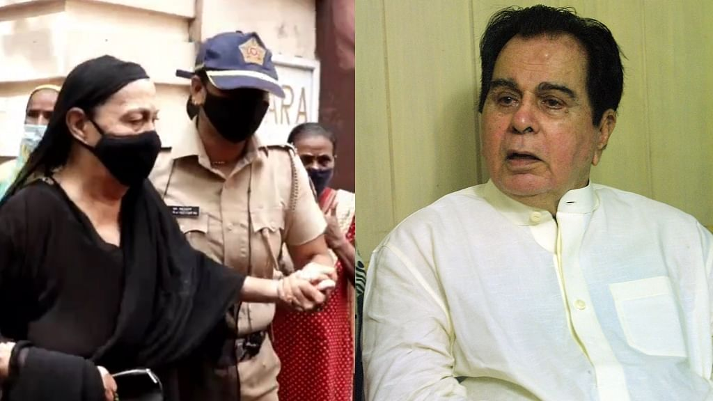 Watch: Elderly woman claiming to be Dilip Kumar's relative stopped by Mumbai police at actor's residence