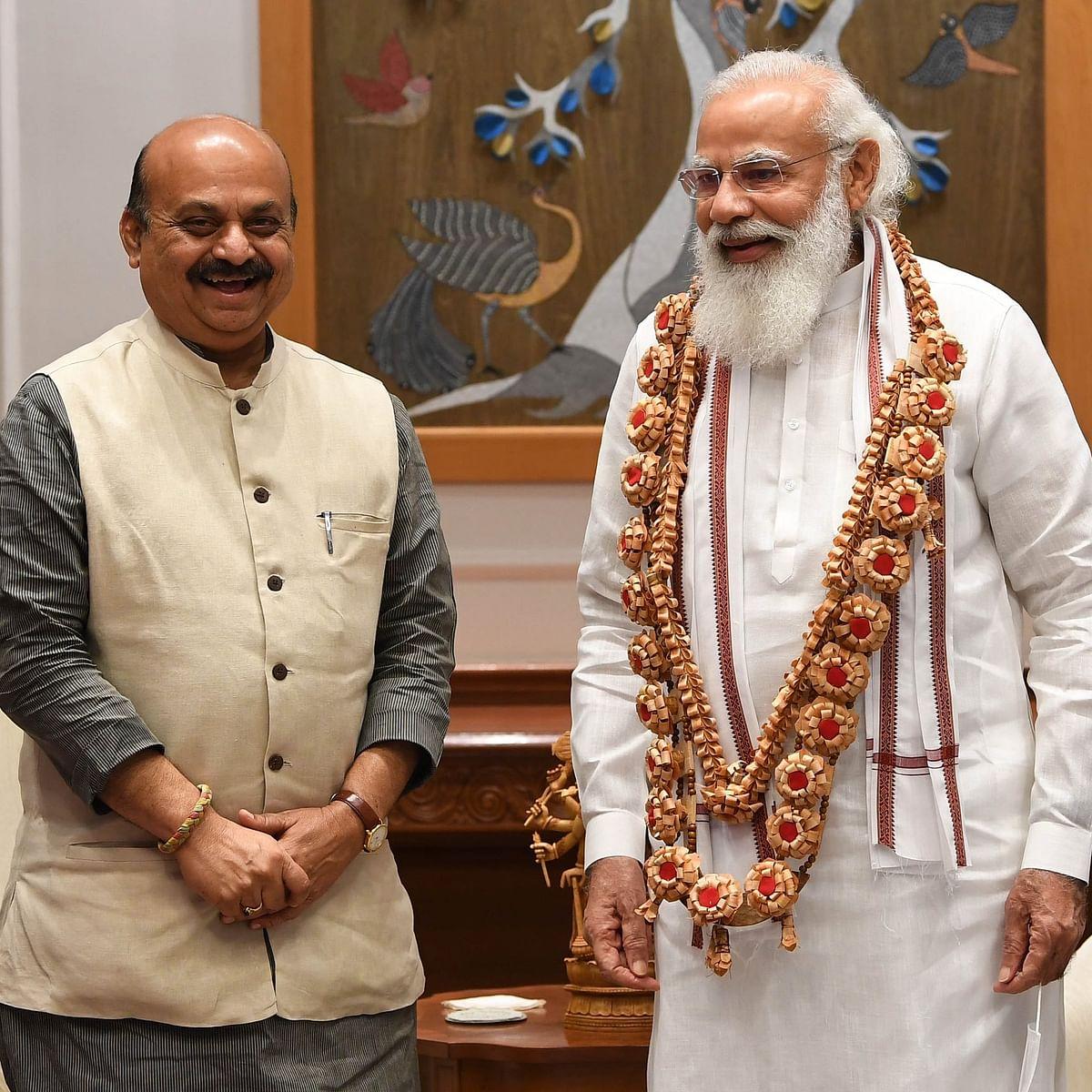 PM Modi meets newly inducted CM Basavaraj S Bommai, assures full support for development of Karnataka
