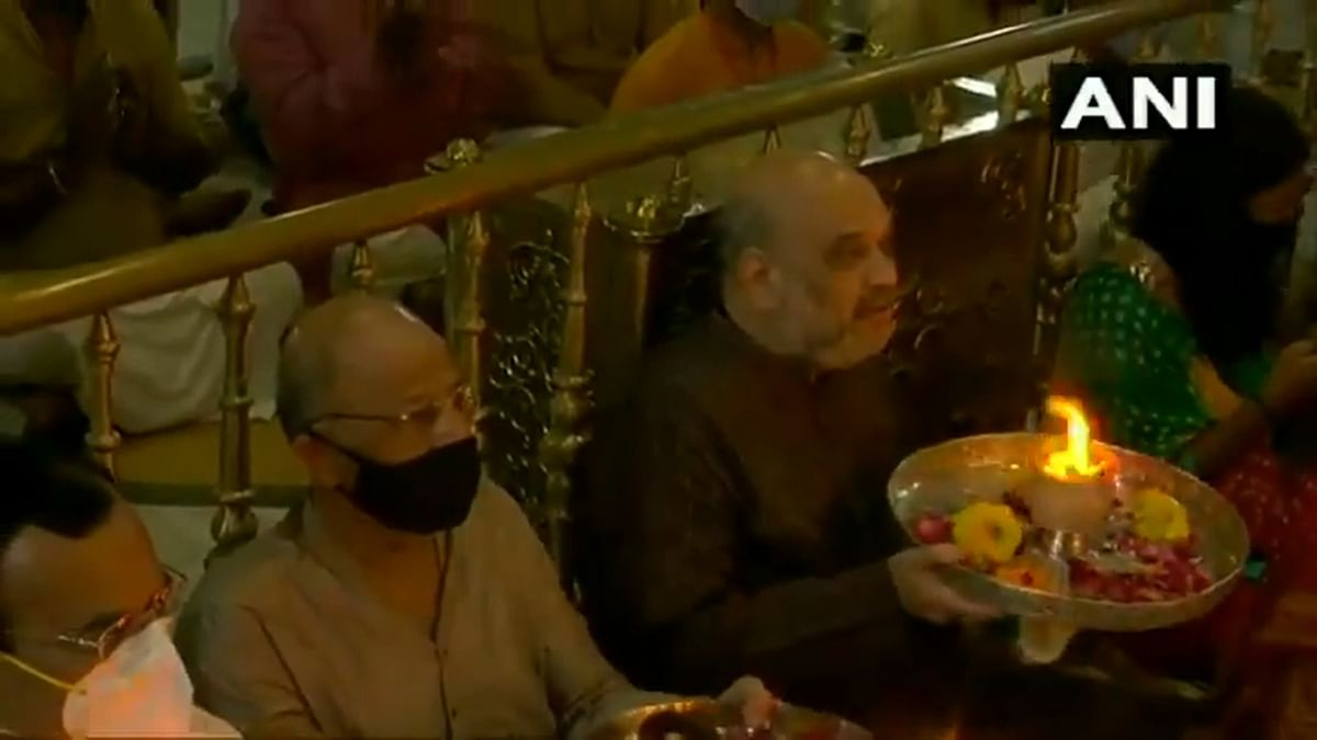 Watch: Ahead of Rath Yatra, Union Home Minister Amit Shah performs 'aarti' at Gujarat Jagannath Temple