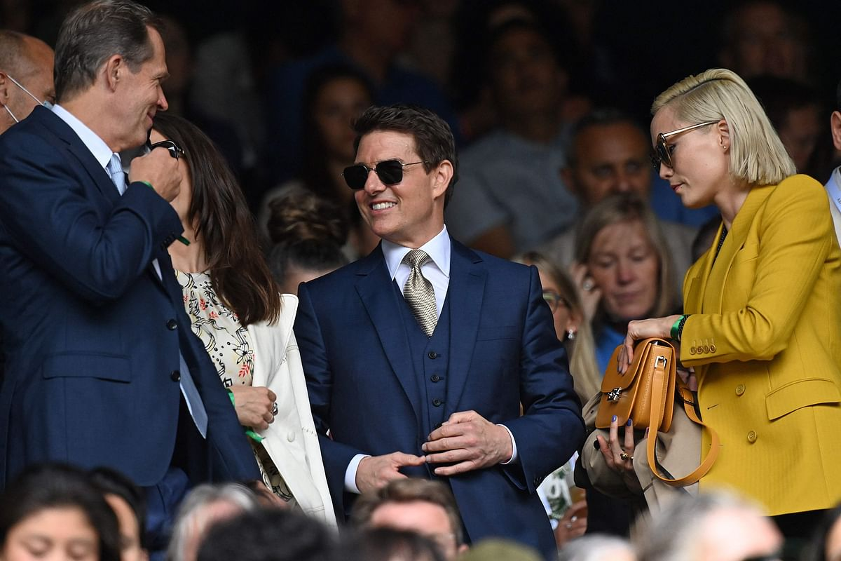 In Pics: Tom Cruise hits Wimbledon with rumored girlfriend Hayley Atwell