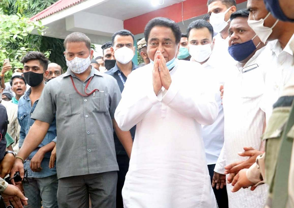 Former Chief Minister and Congress state president Kamal Nath in Bhopal on Sunday.