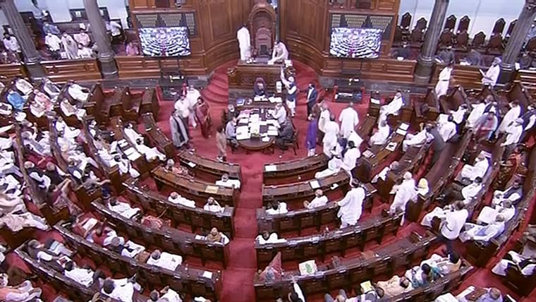 High drama in Rajya Sabha: TMC MP snatches IT Minister Ashwini Vaishnaw's statement on Pegasus report and tears it