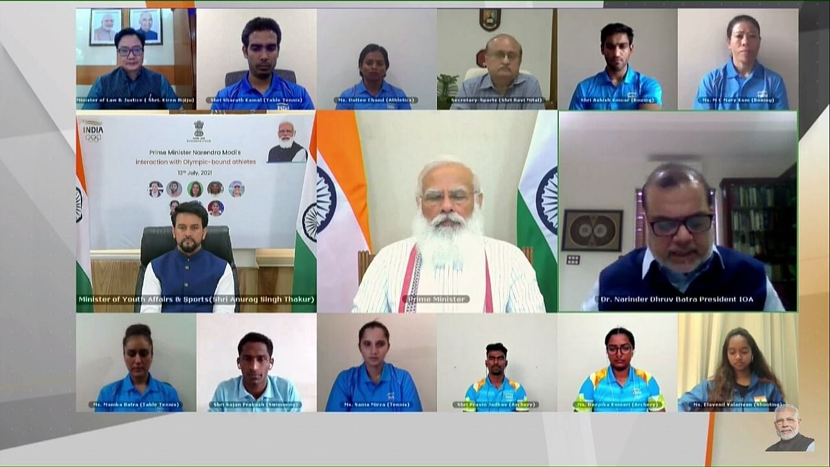 PM Modi's interaction with Olympics-bound athletes